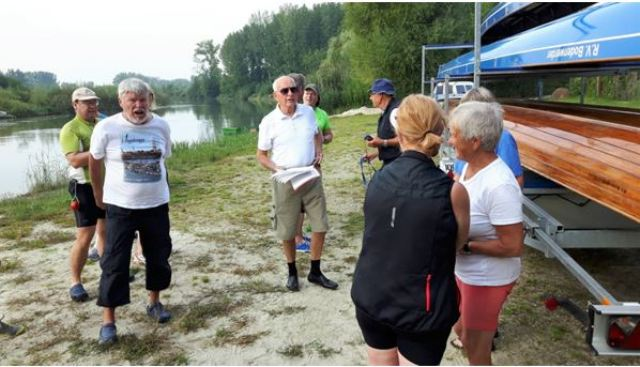 2016 1 Start in Kimle in Ungarn an der kleinen Donau